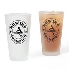 Rowing Champion Drinking Glass