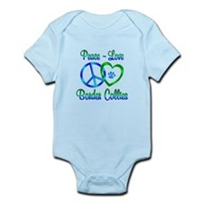 Peace Love Border Collies Infant Bodysuit