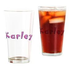 Karley Pink Giraffe Drinking Glass