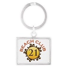 Beach Club 21 Landscape Keychain