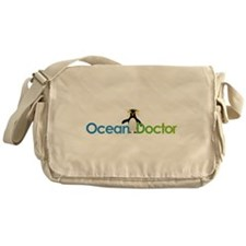 Ocean Doctor Penguin Logo Messenger Bag