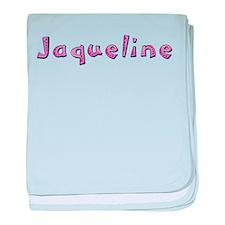 Jaqueline Pink Giraffe baby blanket