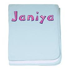 Janiya Pink Giraffe baby blanket