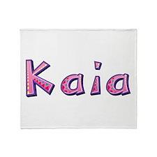 Kaia Pink Giraffe Throw Blanket