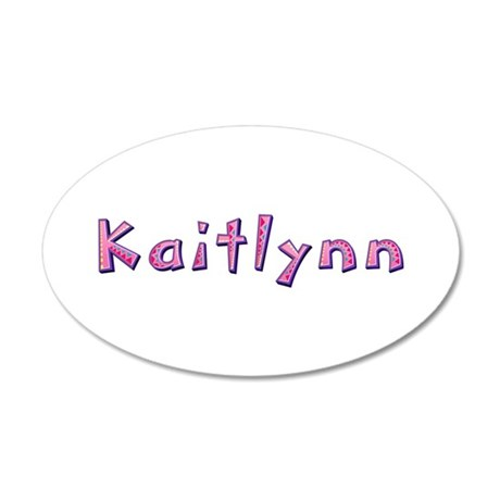 Kaitlynn Pink Giraffe 35x21 Oval Wall Decal