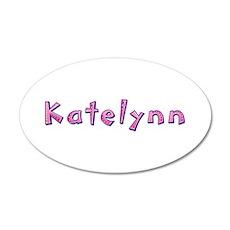 Katelynn Pink Giraffe 35x21 Oval Wall Decal