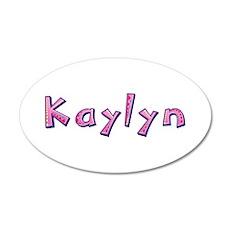 Kaylyn Pink Giraffe 20x12 Oval Wall Decal