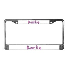 Karlie Pink Giraffe License Plate Frame