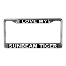 I Love My Sunbeam Tiger License Plate Frame #3
