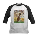 Spring with a Boxer Kids Baseball Jersey