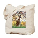 Spring with a Boxer Tote Bag