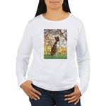 Spring with a Boxer Women's Long Sleeve T-Shirt