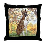 Spring with a Boxer Throw Pillow