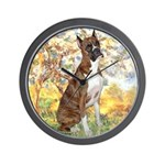 Spring with a Boxer Wall Clock