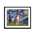 Starry / Boxer Framed Panel Print