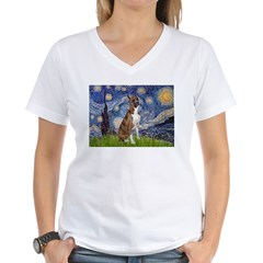 Starry / Boxer Women's V-Neck T-Shirt