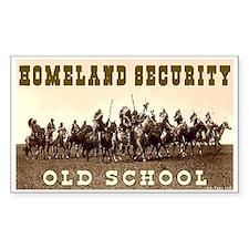 HOMELAND SECURITY - OLD SCHOOL Sticker (Rectangula