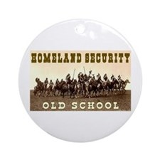 HOMELAND SECURITY - OLD SCHOOL Ornament (Round)