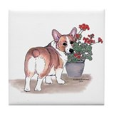 Pembroke Welsh Corgi Tile Coaster