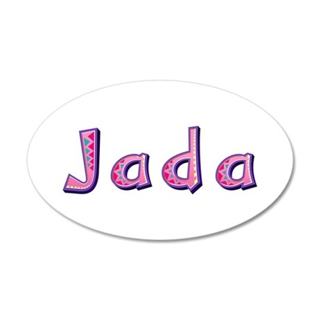 Jada Pink Giraffe 35x21 Oval Wall Decal