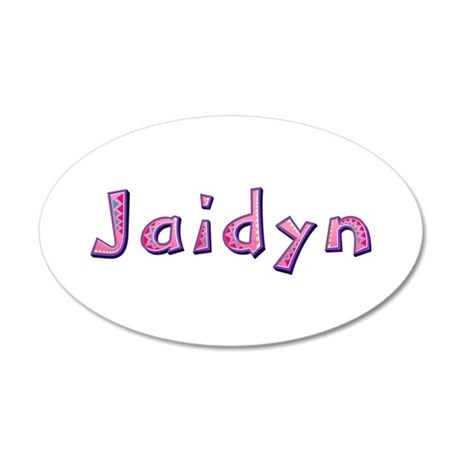 Jaidyn Pink Giraffe 35x21 Oval Wall Decal