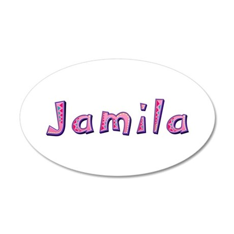 Jamila Pink Giraffe 20x12 Oval Wall Decal