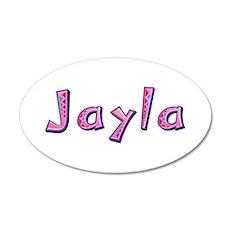 Jayla Pink Giraffe 20x12 Oval Wall Decal
