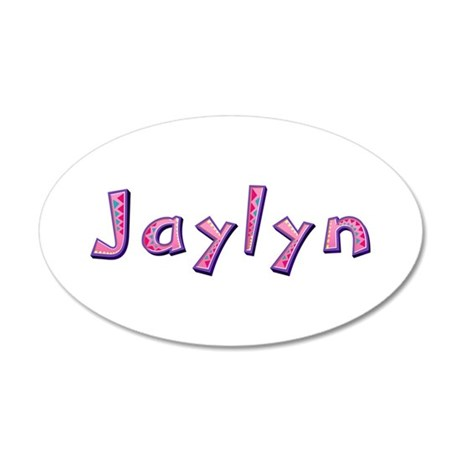 Jaylyn Pink Giraffe 20x12 Oval Wall Decal