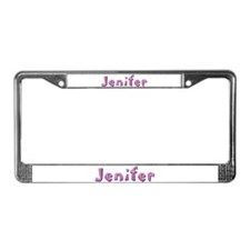 Jenifer Pink Giraffe License Plate Frame