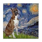 Starry / Boxer Tile Coaster