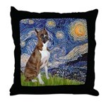 Starry / Boxer Throw Pillow