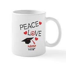 Customize Peace Love Grad Mug Mugs