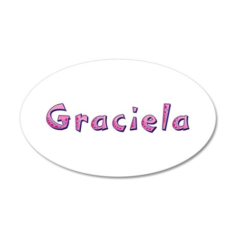 Graciela Pink Giraffe 20x12 Oval Wall Decal