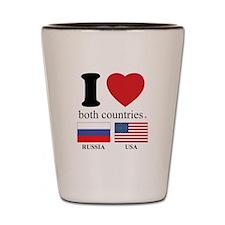 RUSSIA-USA Shot Glass