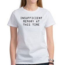 Insufficient Memory At This Time Tee