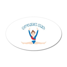 Gymnastics Coach Wall Decal