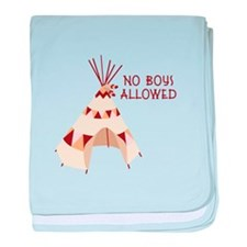 No Boys Allowed baby blanket