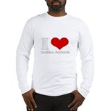 i love heart indian accents Long Sleeve T-Shirt