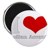 "i love heart indian accents 2.25"" Magnet (10 pack)"