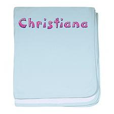 Christiana Pink Giraffe baby blanket