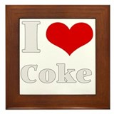 i love (heart) coke Framed Tile