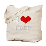 i love (heart) coke Tote Bag