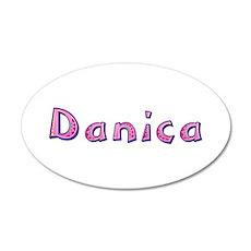 Danica Pink Giraffe 20x12 Oval Wall Decal