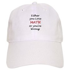 love math or Baseball Cap