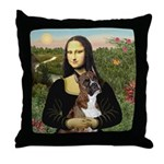 Mona & Boxer Throw Pillow