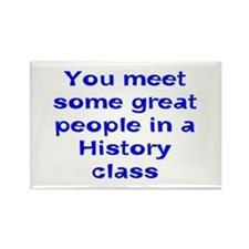 meet in history Rectangle Magnet