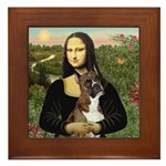 Mona & Boxer Framed Tile