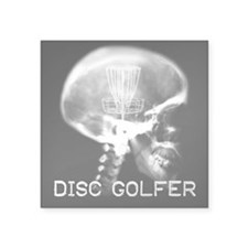 "Disc Golfers Square Sticker 3"" X 3"""