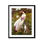 Windflowers & Boxer Framed Panel Print