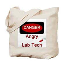Danger Angry Lab Tech Tote Bag